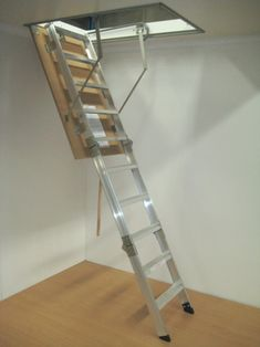 pull-down ladder for roof space storage