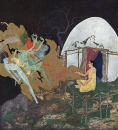 The Talisman Pearl. Illustration to Kingdom of the Pearl -  by Edmund Dulac