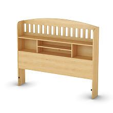 South Shore Popular Collection Full Size Bookcase Headboard - Natural Maple