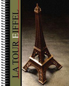 Caderno Universitário com Arte fotográfica da La Tour Eiffel. Oi Leandro, meu sobrinho, lembra desta torre ?. Criação gráfica Marco Machado.