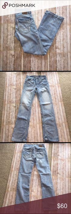 BKE Jake Jeans EUC, rise 8, inseam 32, length 41, white washed, size 28R BKE Jeans