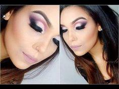 Maquiagem esfumada na diagonal com tons rosados | Noite