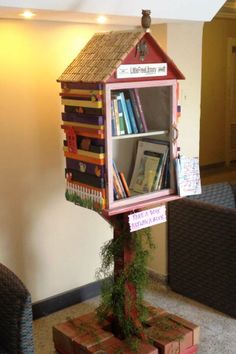 Caroline Lehmann-Croswell. Oxford, OH. The Little Free Library at the Oxford Community Arts Center was designed and build by artist Libby Birch, and her partner Richard Munson. This little library is part of a movement to flood Butler County, Ohio with these little gems.