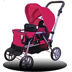 @Overstock - Little girls will delight in having their very own twin stroller. This wonderful stroller fits two eighteen-inch dolls, one in the front seat and the other in the rear seat. This stroller is very durable and a great size.http://www.overstock.com/Sports-Toys/Doll-Twin-Stroller-for-18-and-Smaller-Dolls/5540906/product.html?CID=214117 $44.99