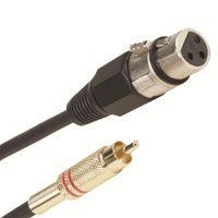 25ft Assembly Type XLR Female to RCA Male Cable by C $9.99. Typical Applications: Extending connections between XLR and RCA connection types. Extending connections between microphones and A/V electronic equipment. Extending connections between microphones and home theater devices. XLR Female to RCA Male  RCA male + XLR 556 female cable  Assembly type (20/0.12+30/0.12)+PVC 25 feet