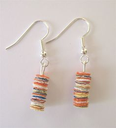 recycled plastic earrings by jacqui hanson, via Flickr