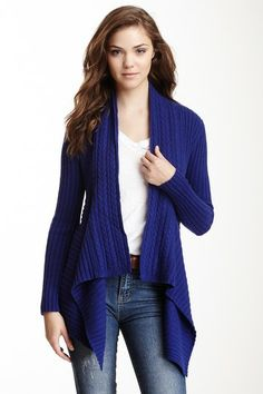 Autumn Cashmere Draped Open Rib Knit Cardigan by Non Specific on @HauteLook