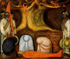 The Perpetual Renewal of the Revolutionary Struggle, 1927 by Diego Rivera. Muralism. genre painting. Chapel, Autonomous University of Chapingo, Mexico