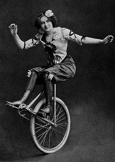 Unicycle: Vintage Photos of Circus Performers from 1890s-1910s