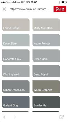 shades of grey color chart paint shades of grey paint colours grey excellent exterior colour chart on 0 wall colours paint shades of grey colour chart names Shades Of Gray Color, Light Grey Paint Colors, Warm Gray Paint, Paint Shades, Paint Color Codes, Paint Color Chart, Exterior Paint Colors For House, Paint Colors For Home, Dulux Paint Colours Grey Exterior