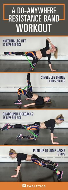 Looking for a new way to transport your workout? Try these fit moves to get that booty burning and hip extensors firing. Take this workout with you anywhere, using just a simple resistance band.. | Fabletics Blog
