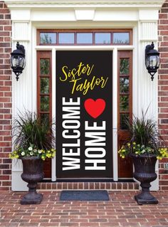 Personalized Digital File, Welcome Home Missionary Banner, Door Banner, Return Missionary Sign Welcome Home Ideas, Welcome Home Posters, Welcome Back Home, Welcome Home Decorations, Welcome Home Banners, Welcome Home Signs, Welcome Home Parties, Missionary Homecoming, Homecoming Signs
