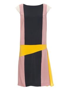 Colour Block Dress (Tall-Size) 07/2012 #105 - Women's Digital Patterns