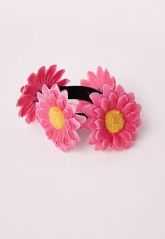 Daisy Hair Ties Pink - Accessories - Hair Accessories - Missguided