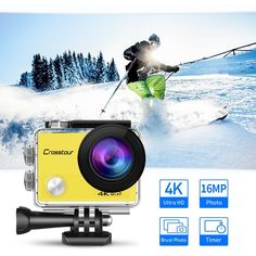 Amazon.com : Crosstour Action Camera 4K WIFI Underwater Cam 16MP Ultra HD Waterproof Sports Camera with Remote Control 170°Wide-angle 2 Inch LCD Plus 2 Rechargeable 1050mAh Batteries and Mounting Accessories Kit : Camera & Photo