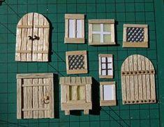 "Miniature Warfare: TDMC - Beginning of the ""Contrada del Marino Dragon"" # Contrad . - Miniature Warfare: TDMC – Beginning of the ""Contrada del Marino Dragon"" # - Wooden Craft Sticks, Wooden Crafts, Craft Stick Crafts, Diy Fairy Door, Fairy Garden Doors, Diy Door, Fairy Doors On Trees, Fairy Tree Houses, Fairy Garden Houses"