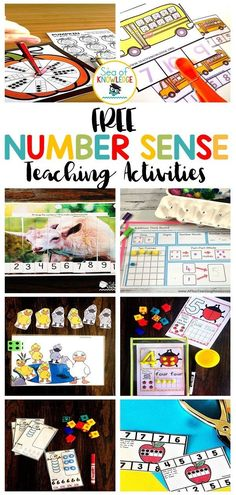 Whether you're looking for ways to teach and build number sense to cover things like counting, composing and decomposing numbers, number bonds, reading and writing numbers, identifying numbers, matching number digits with their corresponding items, ten frames, place value and much more! Hands-on activities matter especially to younger learners, you will find that these activities aren't just typical worksheets. #NumberSense #FreeMathActivities