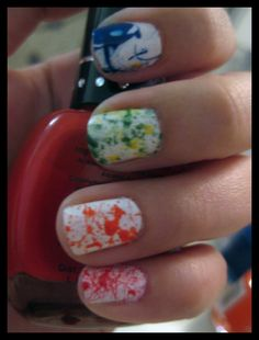 Splatter Paint Nails