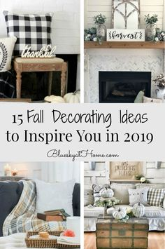 15 Fall Decorating Ideas to Inspire You in Spark your creativity for fall decorating for fall kitchens, fall mantles, fall coffee tables, fall decor. Kitchen Vignettes, Fall Vignettes, Decorating Coffee Tables, Porch Decorating, Decorating Ideas, Decor Ideas, Fall Home Decor, Autumn Home, Rustic Chair