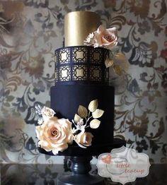 Stunning #navyandgold cake by #littleteacupbakery @littleteacupbakery #navyandgoldtheme #navyandgoldwedding #styleandgracebride #cakestagram #cakedesign #weddingplanning #weddingcake