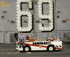 small fire trucks used aboard USS Dwight D Eisenhower to fight any fire that might erupt during aircraft operations