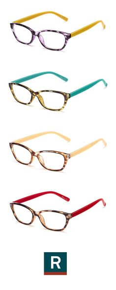 The Catherine cat eye reader has a tortoise front and contrasting, solid color temples for a trendsetting look. If you have a love for pattern-mixing or wearing bright colors like Catherine of Not Dressed As Lamb, they're a must-have! She hand selected them for our Influencer Collection.