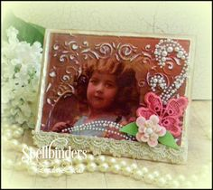 Spellbinders Nostalgic Frame Tutorial using Shady Allure embossing folder