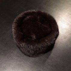 Brown Mink pillbox hat Chocolate brown mink pillbox hat. Accessories Hats