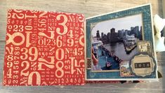 Alaska Mini Album, Cityscapes, Square Tag & Pocket Album - Red Numbers, by Katelyn Grosart, Products by Graphic 45 - 1