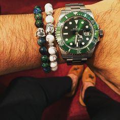 Flegstyle  Whitestyle Greenstyle Les bracelets sont disponibles sur la boutique http://flegstyle.jimdo.com/boutique/ Rolex Submariner Hulk #rolex #watches #bracelet #followme #instagood #love #fashion