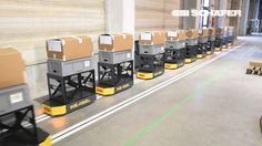 Another not for human transport and 1:1 scale but similar principles to PRT/ATN  Automated guided vehicle (AGV) Weasel®, Fashion Logistics