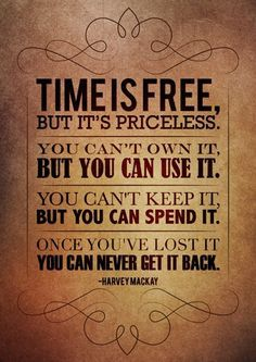 Time is #priceless. How do you spend your #time? #Quote