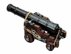 Despite their ideological differences, the Union and the Confederacy could both agree that the cannon was the most reliable piece of artillery. Commemorate this bloody era with your own Model Cannon. Replica Guns, Replica Swords, Model Ship Building, Pirate Decor, Hms Victory, Man Of War, Toy Soldiers, Tall Ships, Pirates Of The Caribbean