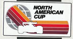 NORTH AMERICAN CUP USA FORMULA ATLANTIC F5000 ORIGINAL PERIOD RACING STICKER F1