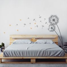 Butterfly wall stickers, bedroom with bath, small room bedroom, bedroom dec Bedroom With Bath, Small Room Bedroom, Bedroom Wall, Bedroom Decor, Kids Bedroom, Bedroom Ideas, Dandelion Wall Decal, Butterfly Wall Decals, Wall Decal Sticker