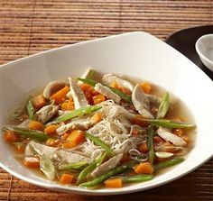 WW Asian-Style Chicken Noodle Soup-This is a healthy Weight Watchers 3 PointsPlus+ stove top recipe. Makes 8 servings