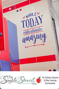 BE AMAZING TODAY! Easy to install wall decals for schools, home schools, office or even your own bathroom mirror! Pick up to two colors to match your decor and preview how this design will look on your walls before you buy! 100% Satisfaction Guarantee   School Purchase Orders Accepted. #AmazingQuotes #MotivationalDecor #GymMotivation #FitnessCenterDecor #officedecor #classroomdecor #homedecor #wallquotes #walldecals #wallstickers #inspirational #beamazing #amazing #walldecor #schooldecor