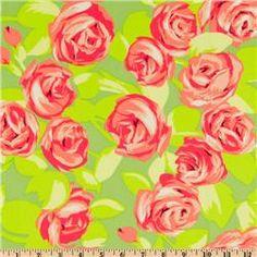 Amy Butler Love Tumble Roses Tangerine