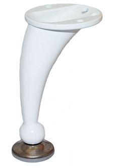 metal table leg white 3 14 in
