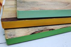 DIY Inspiration: Color Pop Cutting Boards A Beautiful Mess | Apartment Therapy