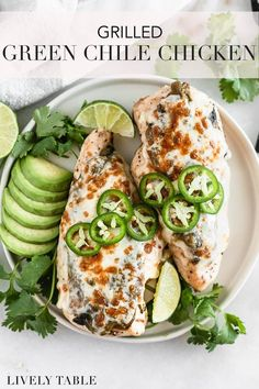 This flavorful grilled green chile chicken topped with roasted Hatch chiles and melted cheese is a healthy chicken recipe to spice up your weeknight dinner routine! #grilling #greenchiles #hatchchiles #greenchilechicken #grilledchickenrecipes #spicyrecipes #hatchchilechicken #hatchchilefest #grillingrecipes #healthygrilling #easydinnerrecipes #weeknightdinners #healthychickendinner #healthydinnerrecipes Gourmet Chicken, Healthy Chicken Dinner, Healty Dinner, Roast Chicken Recipes, Healthy Chicken Recipes, Easy Dinner Recipes, Healthy Dinner Recipes, Whole Food Recipes, Dinner Ideas