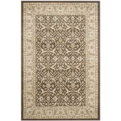 "Charlton Home Lavelle Brown / Ivory Area Rug Rug Size: 5'3"" x 7'6"""