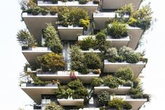 Bosco Verticale, or Vertical Forest, houses 800 trees in addition to its human residents. Pronounced balconies make space for large tubs in which the vegetation is planted, and the staggered nature of the balconies allows unhindered growth. The firm undertook a three-year planning process with a team of botanists and ethologists to choose the plant species. #dwell #moderndesign #modernarchitecture