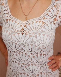 Little White Crochet dress                                                                                                                                                     Mais