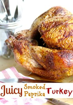 Juicy Smoked Paprika Turkey will get your family around the dinner table Lunch Recipes, Drink Recipes, Easy Recipes, Easy Meals, Thanksgiving Leftovers, Thanksgiving Crafts, Most Popular Recipes, Favorite Recipes, Large Cooler