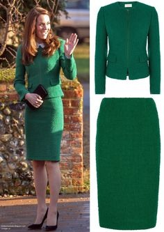 hrhduchesskate:  Visit to EACH (East Anglia Children's Hospice, Norfolk, January 24, 2017-The Duchess of Cambridge wore a Hobbs London boiled wool suit and Gerard Darel Josephine Blouse, accessorized with her Gianvito Rossi black pumps, black Mulberry clutch, and Kiki McDonough Morganite Cushion Drop Earrings