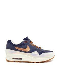 Image 1 - Nike - Air Max 1 Premium - Baskets - Bleu marine