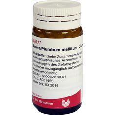 ARNICA-PLUMBUM -Mellitum Globuli:   Packungsinhalt: 20 g Globuli PZN: 08783970 Hersteller: WALA Heilmittel GmbH Preis: 6,22 EUR inkl. 19…