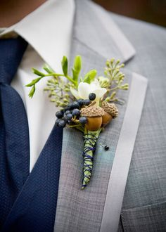 Skip the classic red or pink rose groom's wedding boutonniere. From colorful floral arrangements to cool and modern succulents and berries, we found 59 groom's wedding boutonniere ideas Wedding Groom, Rustic Wedding, Wedding Day, Budget Wedding, Trendy Wedding, Wedding Dresses, Wedding Reception, Wedding Venues, Quirky Wedding