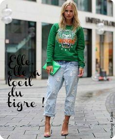 Pull Kenzo Femme Tigre, Garde Robe, Tenue, Femmes Naturelles, Bonjour,  Tendances 9c9629081b1
